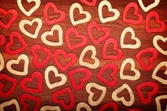 сердца деревянные Стоковая Фотография RF