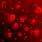 сердца дробят красный цвет на участки иллюстрация штока