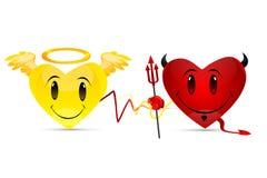 сердца дьявола иллюстрация штока
