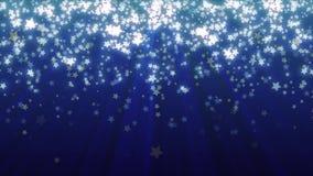 Сердца звезды летания на голубой предпосылке Loopable дня ` s валентинки предпосылки иллюстрация вектора