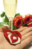 Сердца и розы стоковые фотографии rf