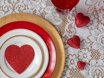 Сердца и шнурок для предпосылки влюбленности тематической Стоковое Фото