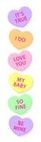 сердца конфеты вертикальные Стоковая Фотография RF