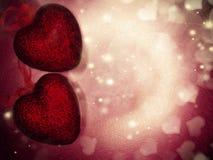 Сердца концепции праздника влюбленности дня ` s валентинки на сияющем backgr золота Стоковое фото RF