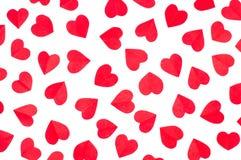 Сердца красного цвета бумаги предпосылки Стоковые Фото