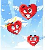 сердца красные иллюстрация штока