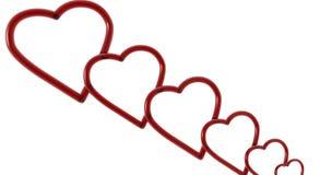 сердца красные иллюстрация вектора