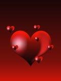 сердца красные Стоковые Изображения