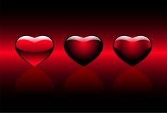 сердца красные Бесплатная Иллюстрация