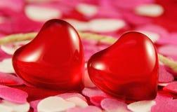 сердца красные стоковые фото