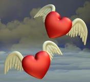 сердца летания иллюстрация вектора