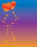 сердца летания Стоковое Изображение