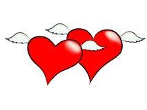 сердца летания Стоковые Фото