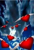 сердца летания бесплатная иллюстрация