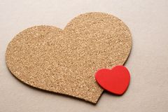 2 сердца малого и большого Стоковые Изображения RF