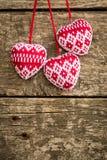Сердца на деревянной предпосылке Стоковые Фото