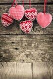 Сердца на деревянной предпосылке Стоковое фото RF