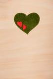 Сердца на деревянной предпосылке Стоковое Фото