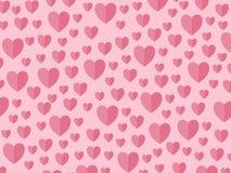 Сердца на розовый день матерей backround, Валентайн стоковое изображение rf