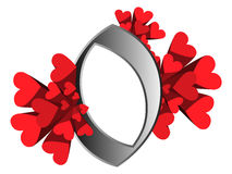 сердца нумеруют красный цвет Стоковая Фотография RF