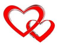 сердца пар любя соединенное 2 Стоковое Фото
