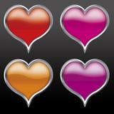 сердца первоначально Стоковое Фото