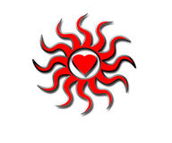 сердца пожара Стоковое Изображение RF