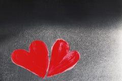 Сердца покрашенные конспектом Стоковое фото RF