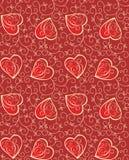 сердца предпосылки безшовные Стоковое фото RF