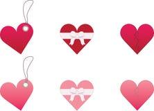 сердца предпосылки белые Стоковая Фотография RF