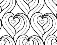 Сердца предпосылки вектора безшовной нарисованные рукой Стоковое Фото