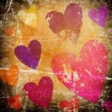 сердца предпосылки искусства Стоковая Фотография RF