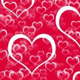 сердца предпосылки любят красный показ Стоковая Фотография