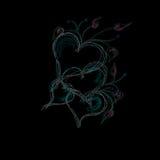 сердца предпосылки черные Стоковые Фотографии RF