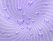 сердца предпосылки чувствительные прозрачные Стоковое Изображение