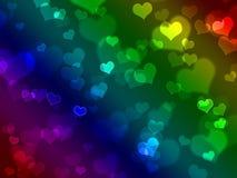 сердца предпосылки Стоковые Изображения