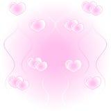 сердца предпосылки Стоковая Фотография RF