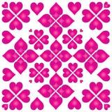 сердца пурпуровые Стоковые Фотографии RF