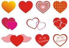 сердца различные Стоковое Изображение RF