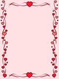сердца рамки красные Стоковые Изображения
