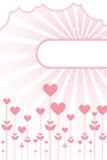 сердца рамки предпосылки флористические Стоковое Изображение RF