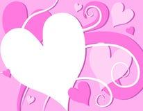 сердца розовый s дня завихряются Валентайн иллюстрация вектора