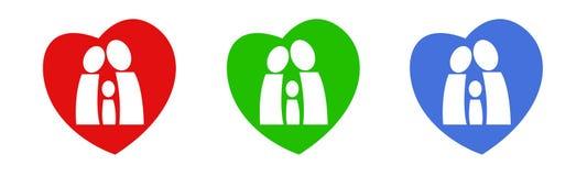 сердца семьи Стоковая Фотография RF