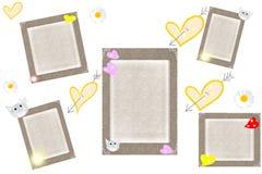 сердца серого цвета рамок Стоковые Фотографии RF