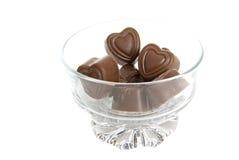 сердца стекла шоколада шара Стоковые Фотографии RF