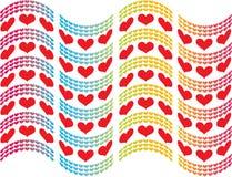 сердца флага Стоковая Фотография