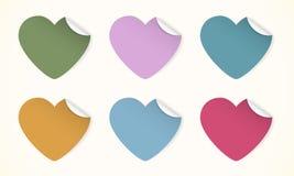 Сердца цвета Стоковые Изображения