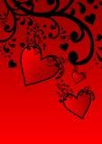 сердца цветка Иллюстрация вектора
