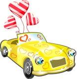 сердца шаржа автомобиля бесплатная иллюстрация