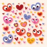 сердца шаржа счастливые Стоковая Фотография RF